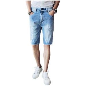 Summer Cotton Men s Denim Shorts Fashion Destruction Hole Male Shorts 2018  Popular Beach Shorts Man d406c01ee71
