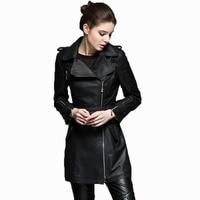 100% Sheepskin Coat Women Genuine Leather Jacket Women Clothes Trench Coat Spring Autumn Slim Korean Elegant Windbreaker ZT531