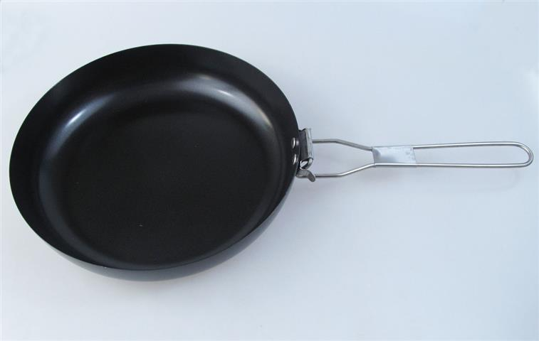 foldable handle steel fry pan outdoor camping pan folding handle fry pan folding pan in Outdoor Tablewares from Sports Entertainment