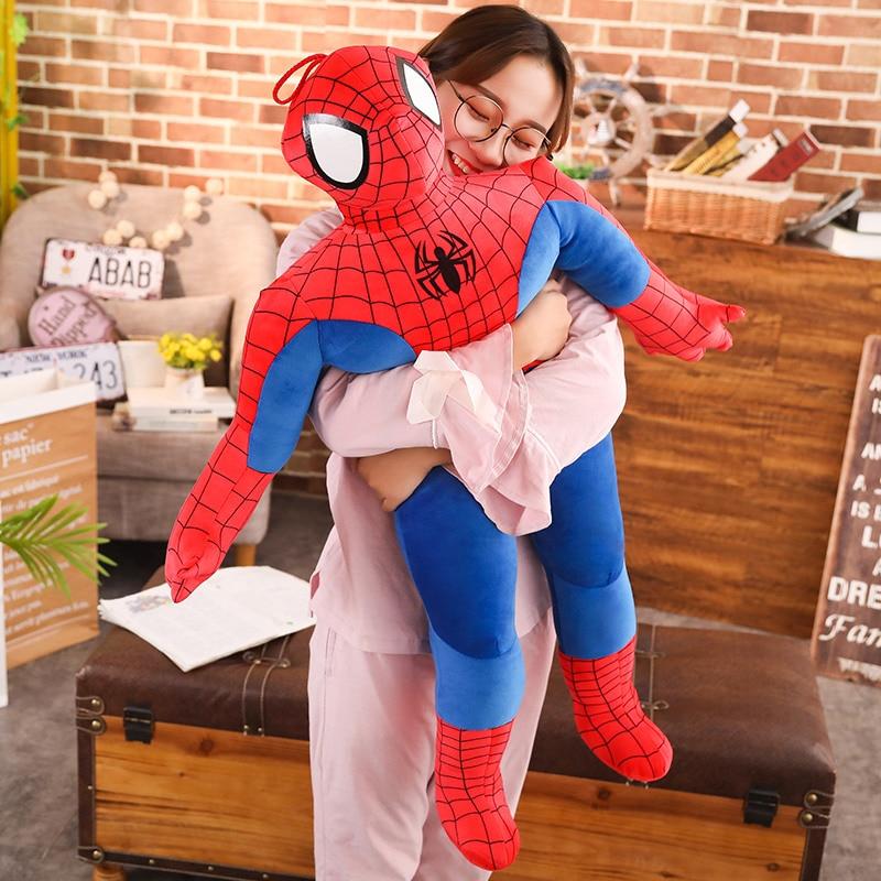 50/100cm Soft Stuffed Super Hero Captain America Spiderman Plush Toys The Avengers Movie Dolls For Kids Birthday Christmas Gift