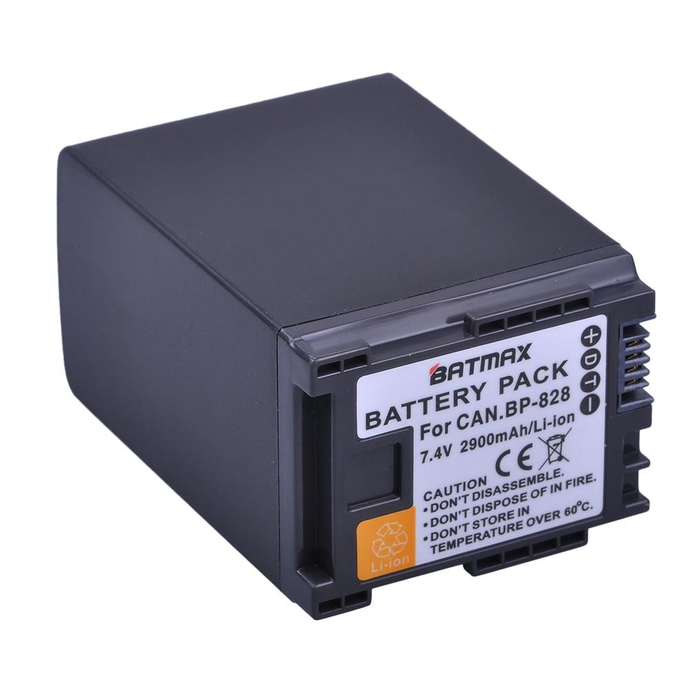 1 Pz 2900 mAh BP 820 BP-820 BP 828 Batterie per Canon LEGRIA GX10, XF400, XF405 HFG20, HFG30, HFG40, HFM41, HFM400, HFS21, HFS30