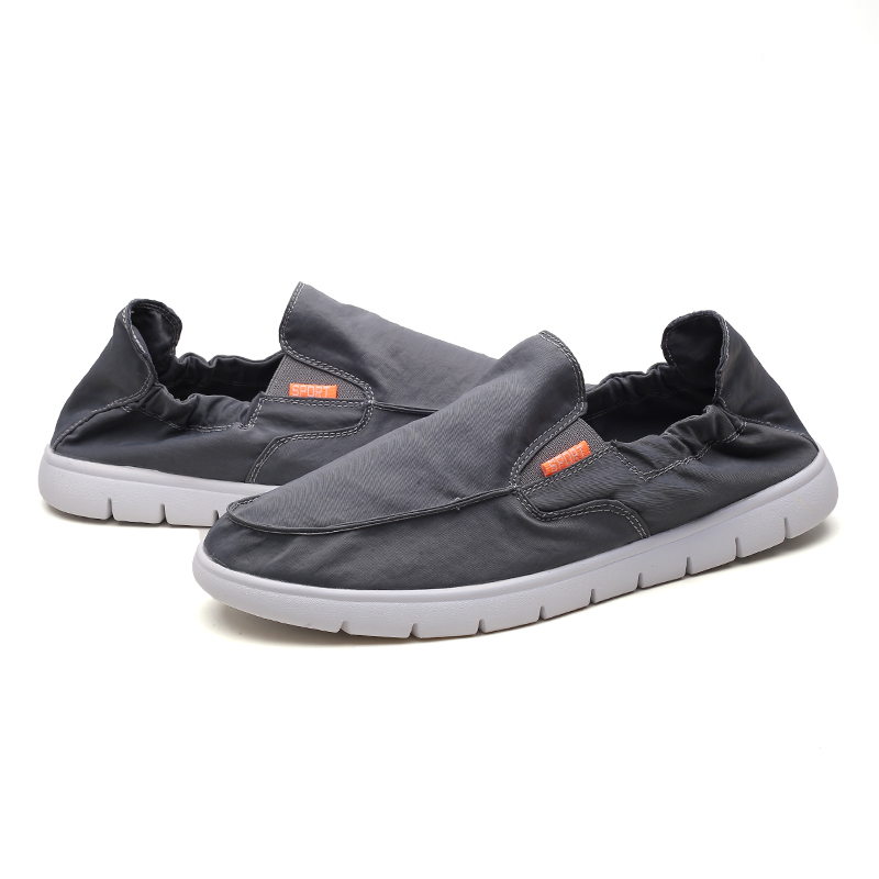 Canvas Shoes Men Breathable Casual Shoes Men Loafers Soft Outdoor Sneakers Flat Lazy Shoes for Male Loafers Chaussure Homme Jux3