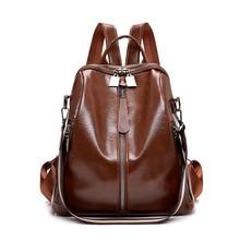Винтаж Для женщин рюкзаки кожаные самых лучших брендов, женские дорожные сумки на плечо многофункциональный женский рюкзак Sac A Dos Femme