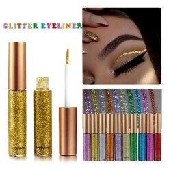 Новинка, блестящая подводка для глаз, для женщин, макияж, легко носить, водонепроницаемый пигмент, красный, белый, золотой, жидкая подводка д...