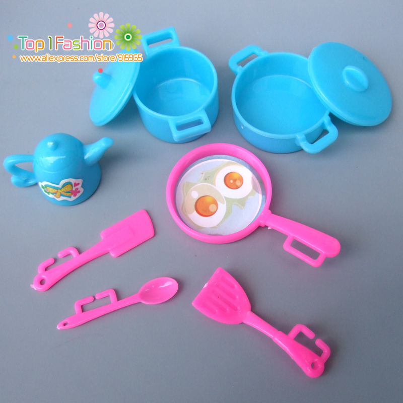 New Kitchen Tableware Doll Accessories For Barbie Dolls Toys Girls Baby Play House Toys  2016 new 1pcs lot bedroom furnitures for barbie dolls monster hight dolls for baby girls play house toys girls baby t03022