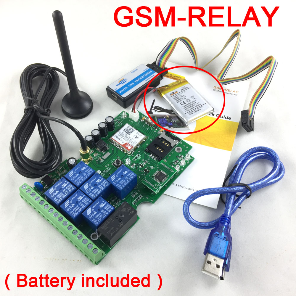 GSM-RELAY  Seven output gsm relay sms call remote controller Rechargeable battery for power failure alertGSM-RELAY  Seven output gsm relay sms call remote controller Rechargeable battery for power failure alert