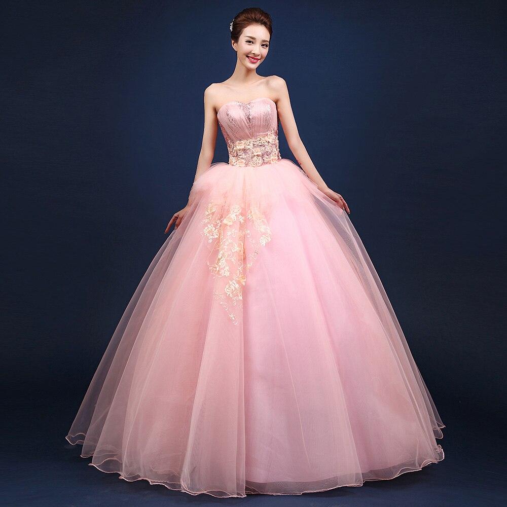 Hermosa rosa vestidos de quinceañera 2016 sweetheart rhinestone ...