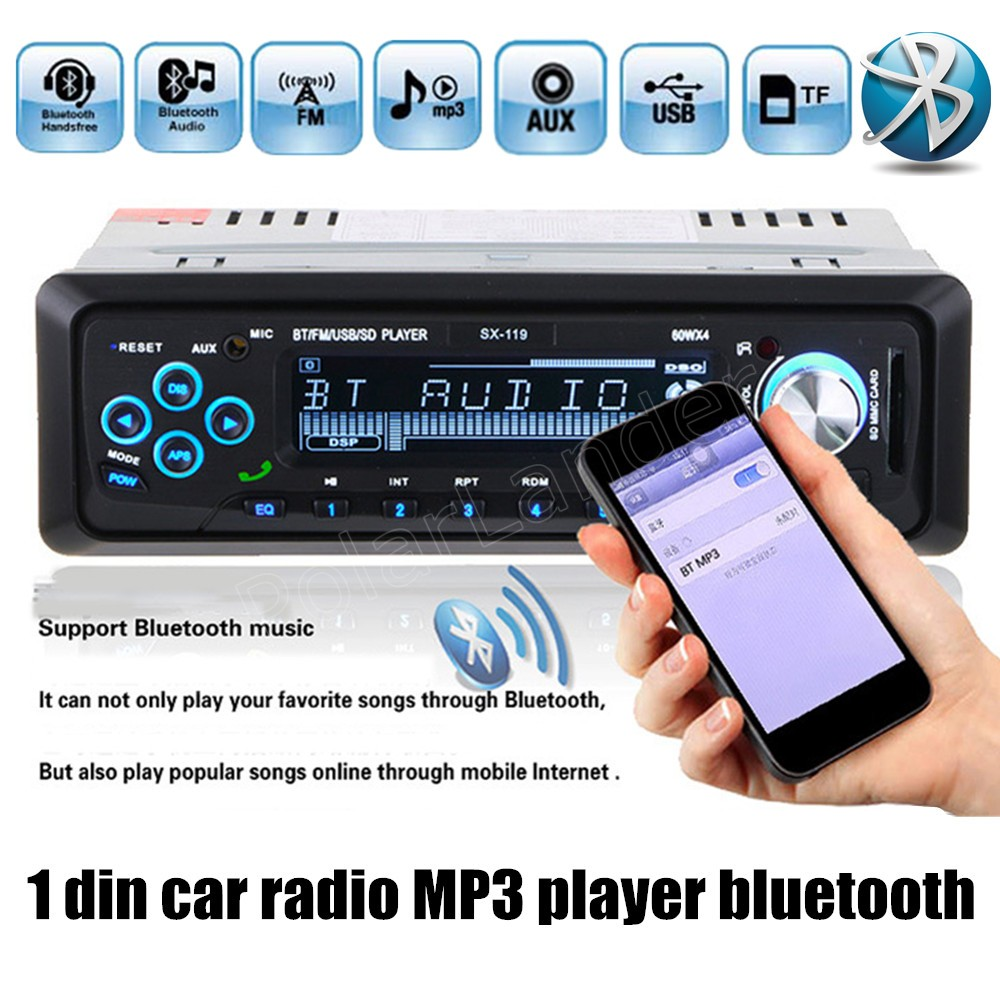 best selling Auto Audio Stereo MP3 Player Support FM/SD/AUX/USB bluetooth handsfree remote control 1 Din Car Radio