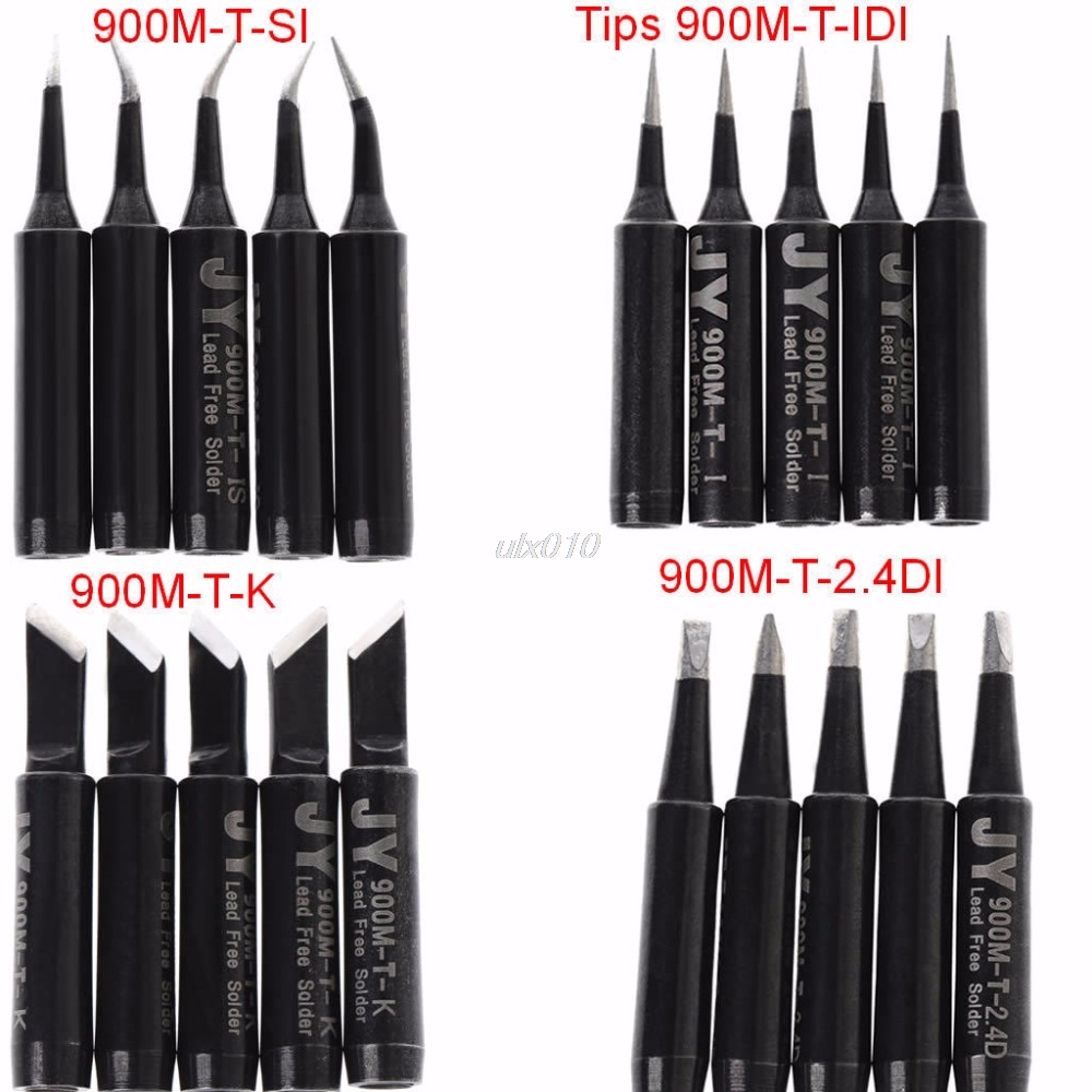 5x 900M-T-SI Soldering Solder Iron Tip Lead Free For Hakko Saike 936 852d+ 909D S09 Wholesale&DropShip