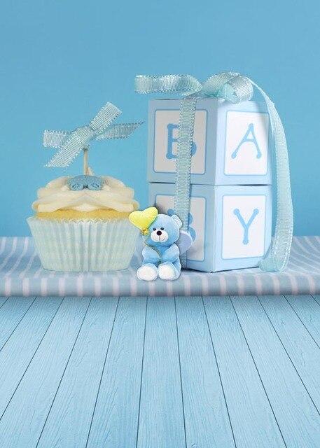 Fotografia Baby Blue Foto Hintergrund Fur Baby Shower Kuchen