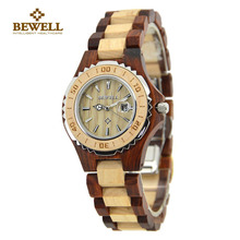 BEWELL Luxury Brand Analog Display Date Women's Quartz Watch Ladies  Round Dial Calendar Tops Brand Luxury Watch Paper Box 100BL