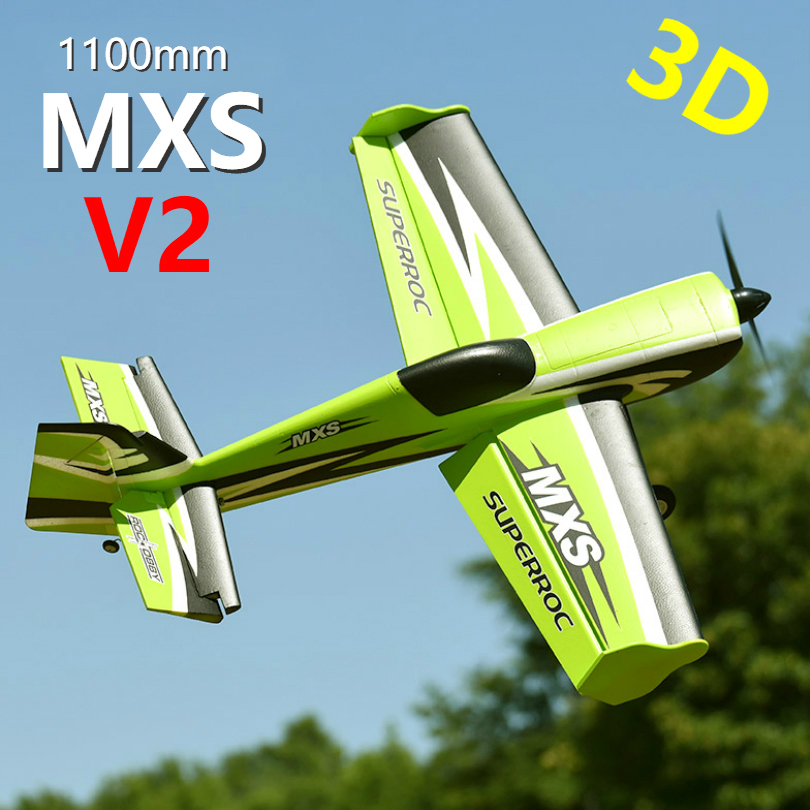 FMS RC Airplane 1100MM 1 1M MXS V2 Green 4CH PNP Durable EPO Aerobatic 3D Scale