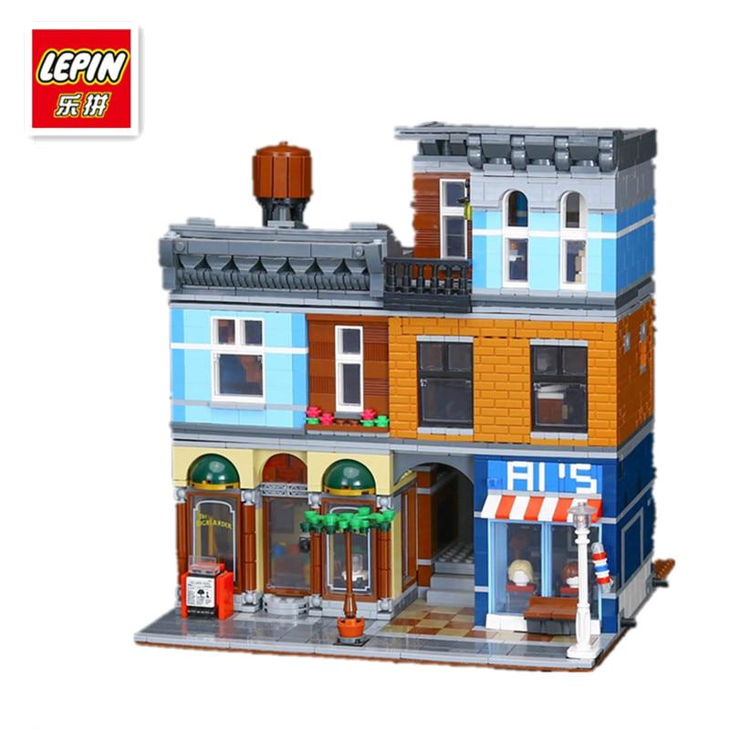 IN STOCK LEPIN 15011 2262Pcs City Street Detective's Office Model Building Kit Blocks Bricks Compatible Toy 10246