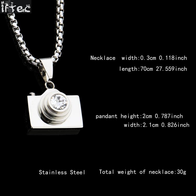 New fashion hip hop jewelry camera necklaces pendants hot sale gold new fashion hip hop jewelry camera necklaces pendants hot sale gold black silver colors lovely stainless steel designer in pendant necklaces from jewelry aloadofball Images