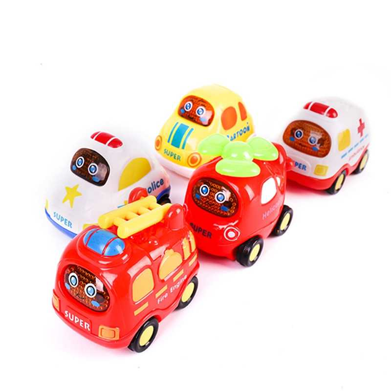 1pcs car alloy  boy inertia Vehicle Model miniature mini pull back car toy for Children gift Color Random