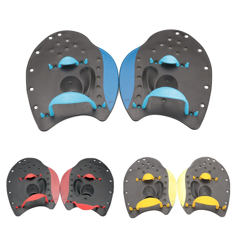 Professional Adult Silicone Swimming Paddles Swimming Strokes Practice Correction Swimming Tools Adjustable Hand Webbed Gloves