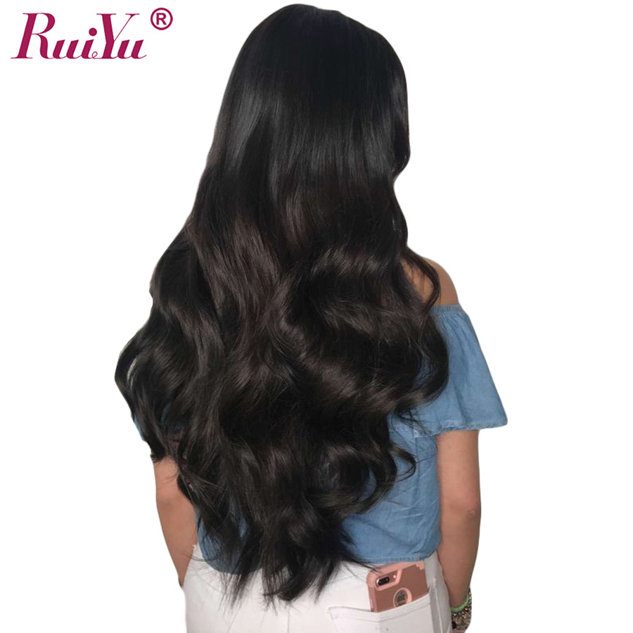 Glueless Body Wave Wig Lace Front Human Hair Wigs For Black Women Pre Plucked Lace Wig With Baby Hair RUIYU Indian Wig Remy Hair