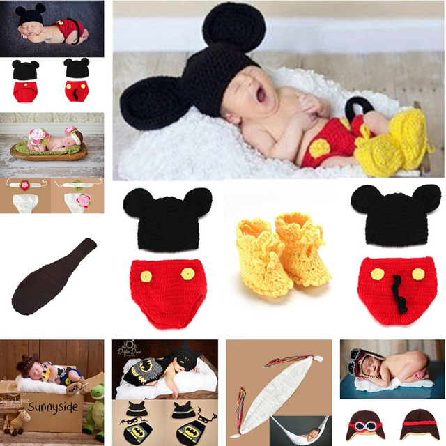 Mickey Designs Crochet Baby Hats Photo Props Infant Costume Outfits - What is a commercial invoice baby stores online