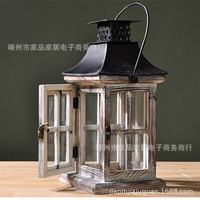 Specials! 62 yuan primitive wooden lantern decorations ZAKKA original industrial loft-style candlesticks -2 paragraph