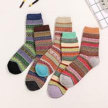 10 шт = 5 пар/лот US$1,7/пара новые осенние и зимние высококачественные женские носки утепленное шерстяное теплые носки для женщин