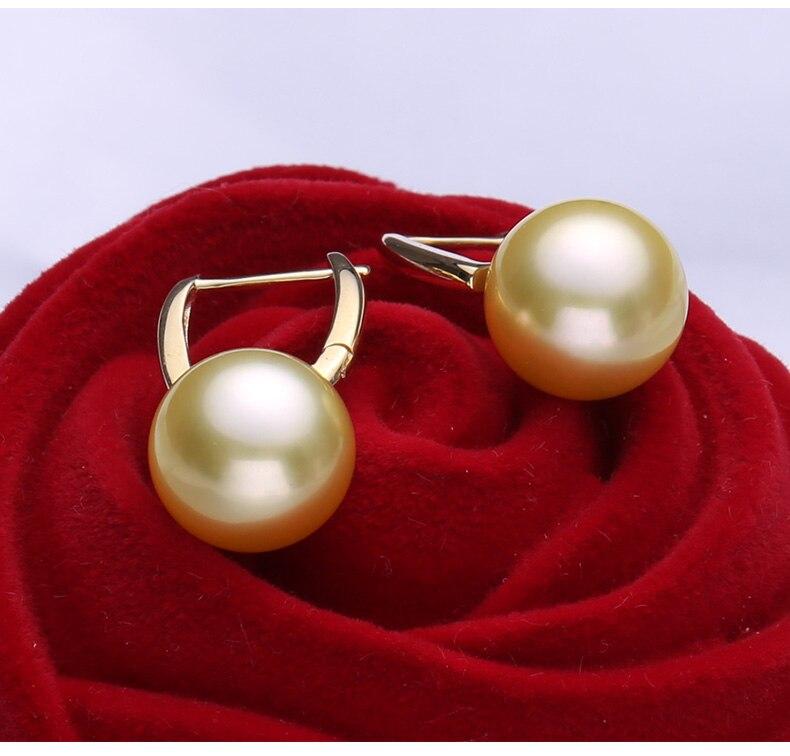 gold southsea pearl earrings jewelry 100