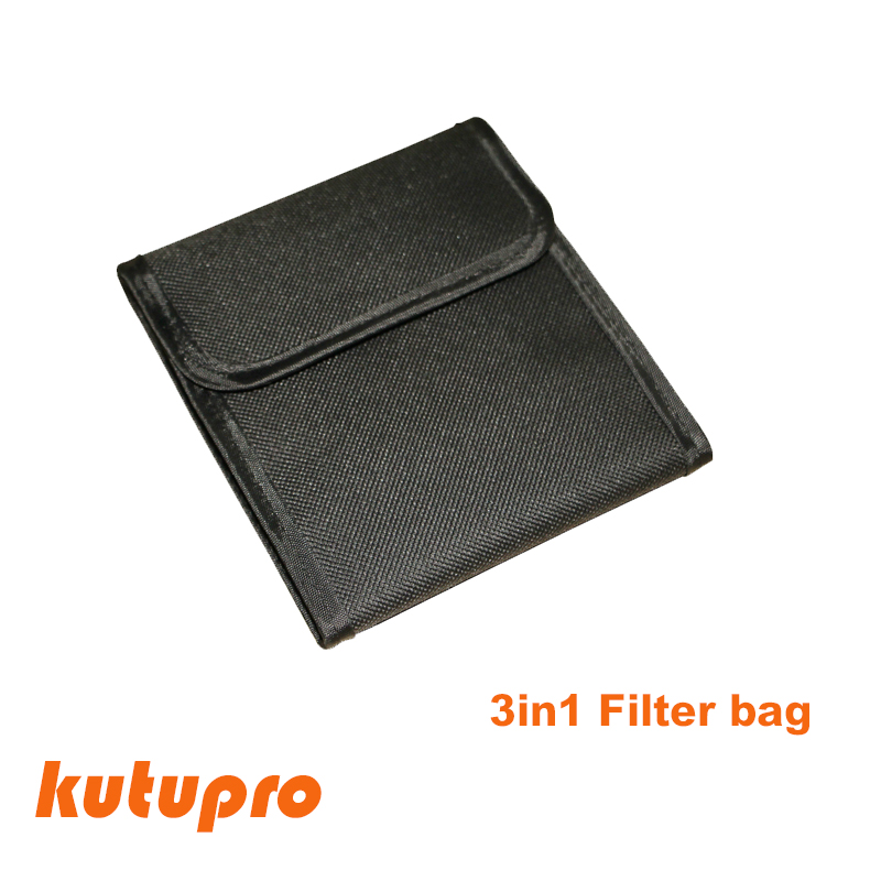 TXEsign Neoprene PU Protection Camera Polarizer Lens Filter Pouch ND Filter Case Filter Pack Up to 77mm Black