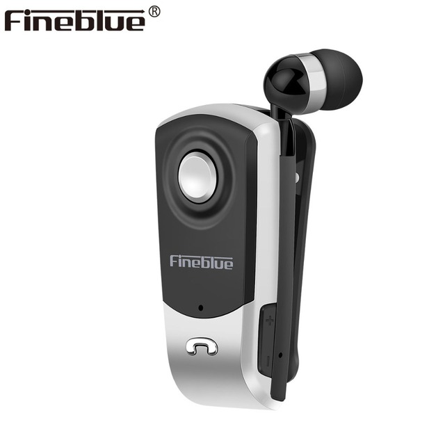 Fineblue F960 Mini Wireless Bluetooth neck clip telescopic type business Earphone Vibration Alert Wear Stereo Sport earphone MIC