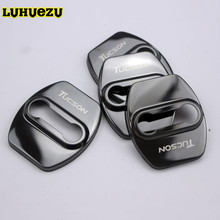 Stainless Steel Car Door Door Lock Hold Protective Buckle For Hyundai Tucson 2015 2016 2017 2018 Accessories