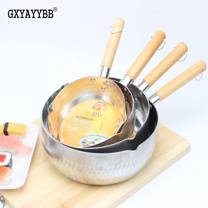 GXYAYYBB16cm18cm22cm stainless steel thick removable wood handle handle font b kitchen b font font b appliances