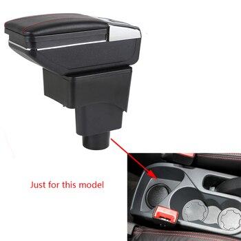 アームレストボックスフォード Ecosport 車中央の収納ボックスとカップホルダー灰皿片付けアームレスト回転式車- スタイリング
