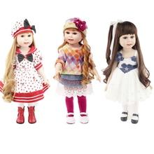 18 '' American Baby Doll Handgjord mjuk silikon Vinyl Reborn Dolls Realistisk Toddler Doll Leksaker för barn Julsamling