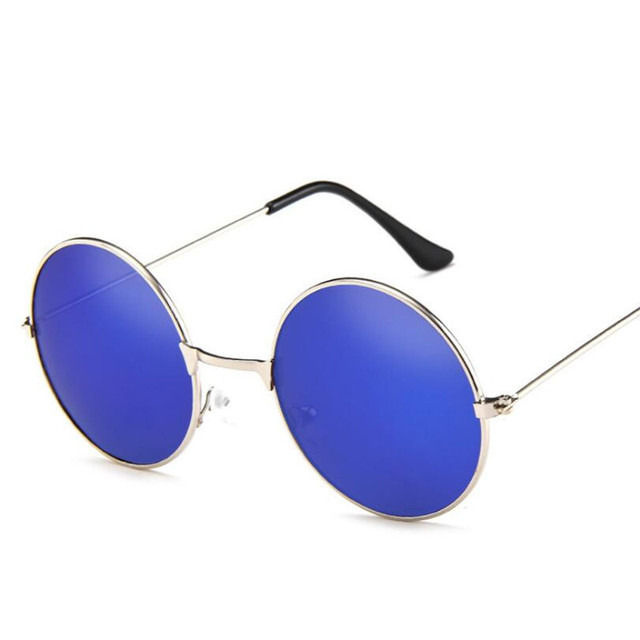Fashion Round Metal Frame Sunglasses Men Women Retro Classic Prince Mirror Circle Round Sunglasses Muti-Colors Optional