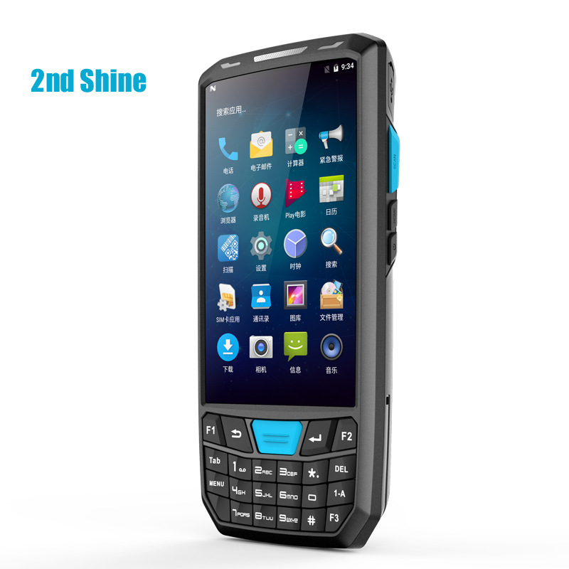 4.5 Polegada Rugged Handheld PDA Industrial Compute Móvel Android7.0 QR Scanner de código de Barras do Coletor de Dados