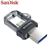 SanDisk OTG USB Flash Drive DD3 USB Mini Flash Drive High Speed 16GB 32GB 64GB 128GB Pen Drive Memory Micro USB Stick USB 3.0