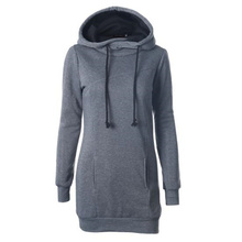 2019 Autumn Winter women hoodie sweatshirt solid hooded long sleeve pullover drawstring S-4XL fashion female hoodie Dropshopping недорого