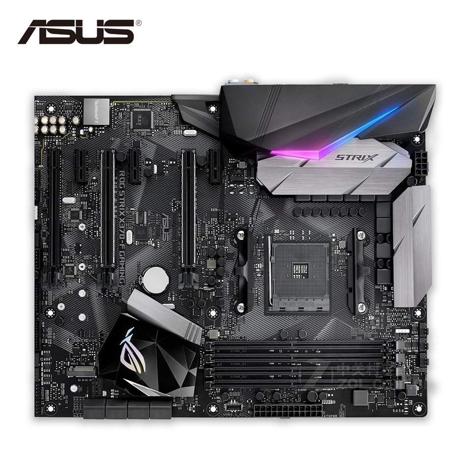 Asus ROG STRIX X370-F Gaming Original New Desktop Motherboard X370 Socket AM4 DDR4 64G SATA3 USB3.1 ATX Second-hand High Quality ароматизатор $100 5х11 см запах роза 1135722