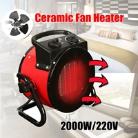 220V 9A 50HZ 2000W electric home fan heater air warmer Portable ptc Ceramic Fan Forced Space Heater Electric warm air blower
