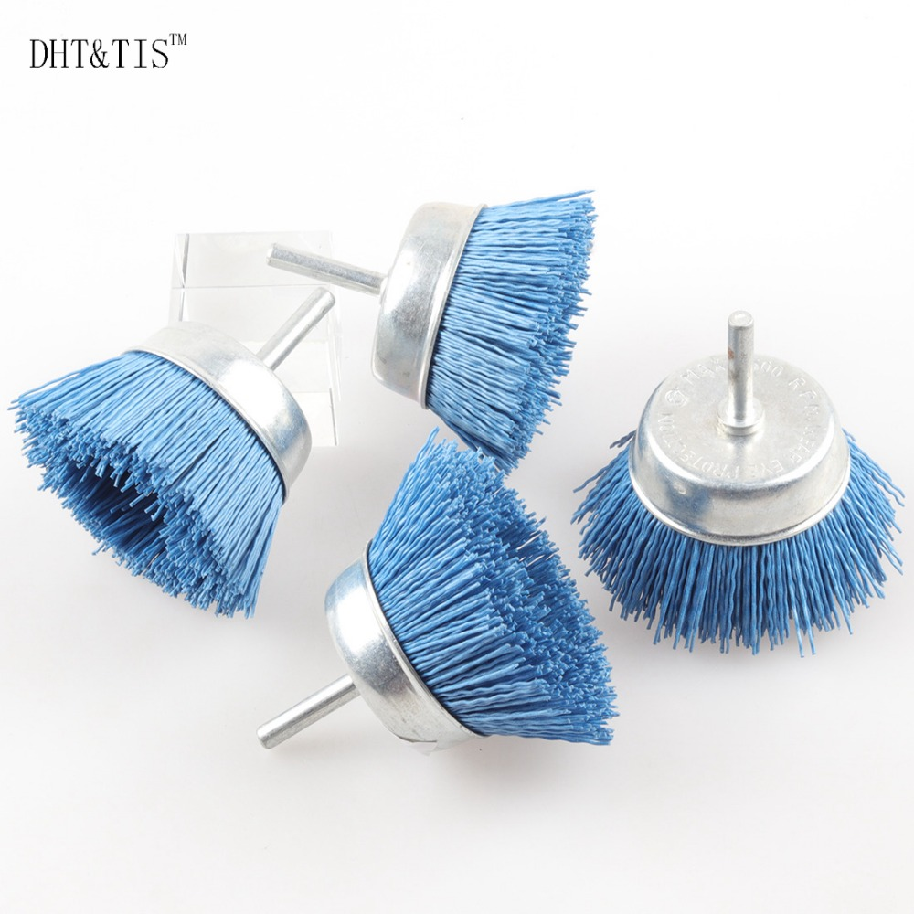 DHT&TIS 4pieces 240Grit Cup shaped Abrasive Wire Polishing Brush ...
