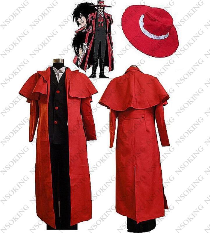 Anime Hellsing Alucard Cosplay Costume Customized