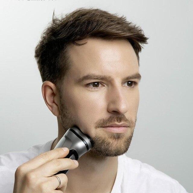 Xiaomi elektryczna oryginalna golarka do twarzy Enchen BlackStone 3D golarka elektryczna, mężczyźni zmywalny USB akumulator maszyna do golenia brody