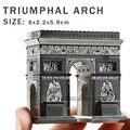 Nueva creativo arco del triunfo 3D rompecabezas 3D construcción metal modelo DIY creativo Arc de Triomphe puzzle puzzle para adultos / niños regalos juguetes