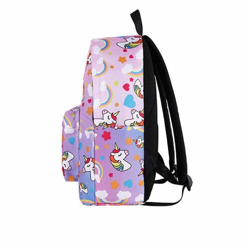 Unicorn small Backpack casual lightweight school bag Hawaiian style