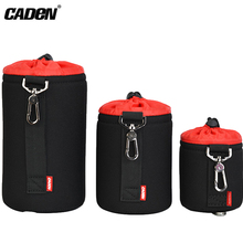 Caden Camera Lens Pouch Bag Case 5 mm Thick Waterproof Neoprene Lens Cases Photo