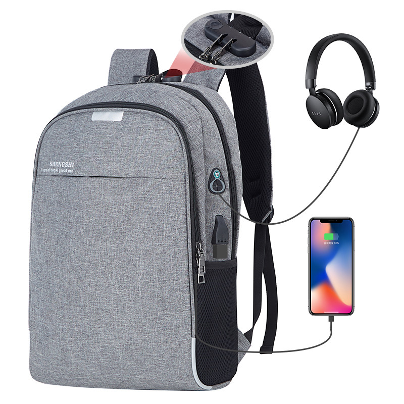 Anti-theft Men Backpacks School Bags For Teenagers Boys Large Capacity 15.6 Inch Laptop Backpack USB Charging Travel Men Bags