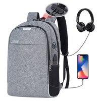 Anti theft Men Backpacks School Bags for Teenagers Boys Large Capacity 15.6 Inch Laptop Backpack USB Charging Travel Men Bags