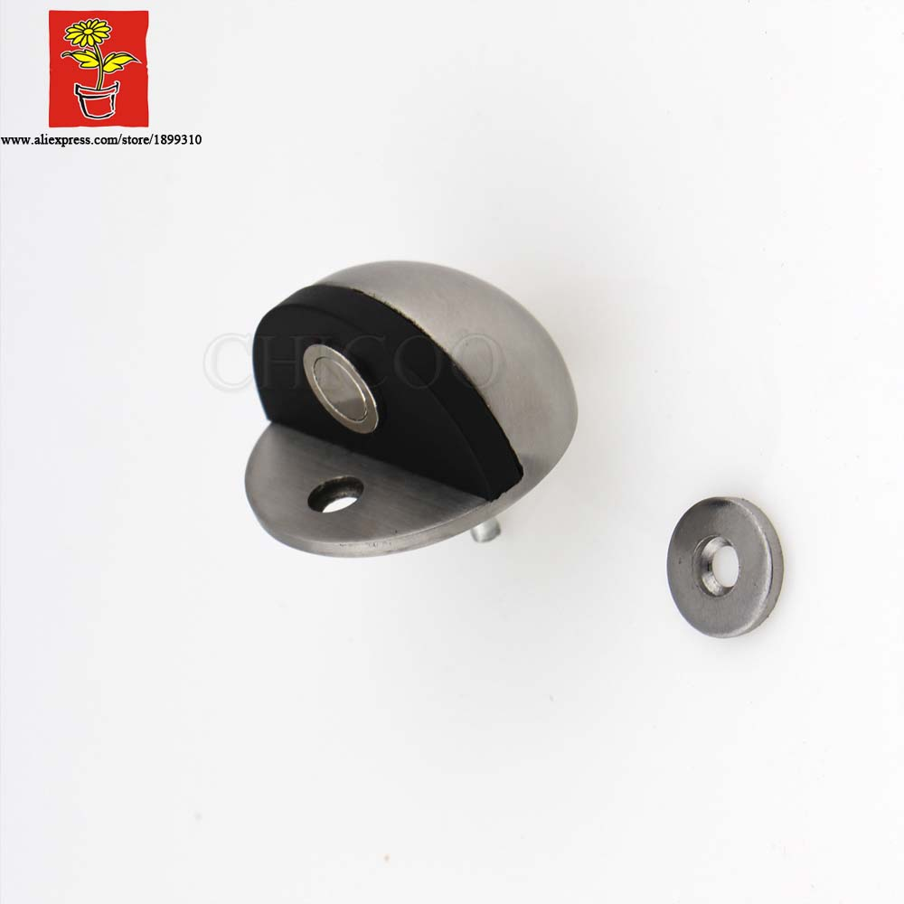 цена на Stainless Steel 304 heighten Casting half mood Magnetic Door Stopper, door holder,Floor mounted magnetic door Stops