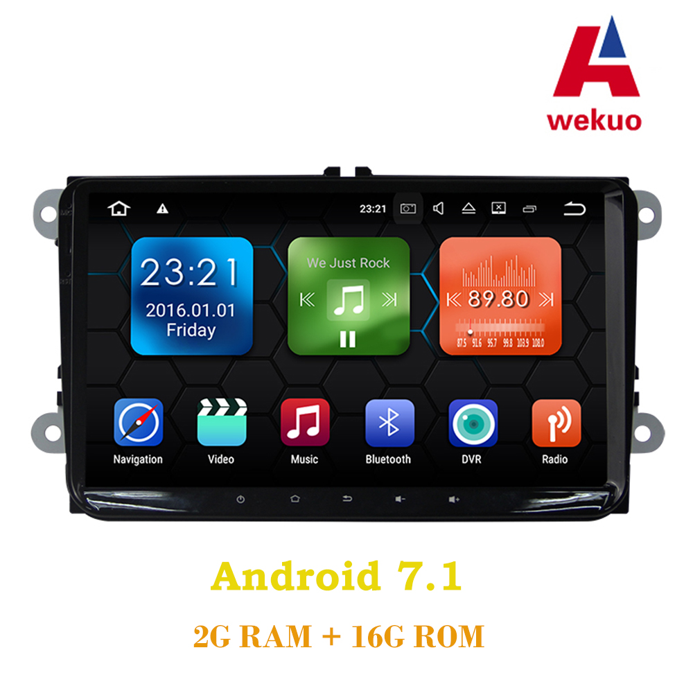 9Wekuo 2G RAM Android 7.1 Car DVD r For VW golf 4 golf 5 6 touran passat B6 sharan jetta caddy transporter t5 polo tiguan gps