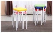 school classroon stool PP seat metal leg training Centre night school student stool retail wholesale free