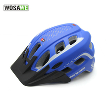 WOSAWE Red black Cycling Bike Bicycle Helmet Adult Safety 23 Holes Channeled Vents carbon Helmet with Net Visor in stock