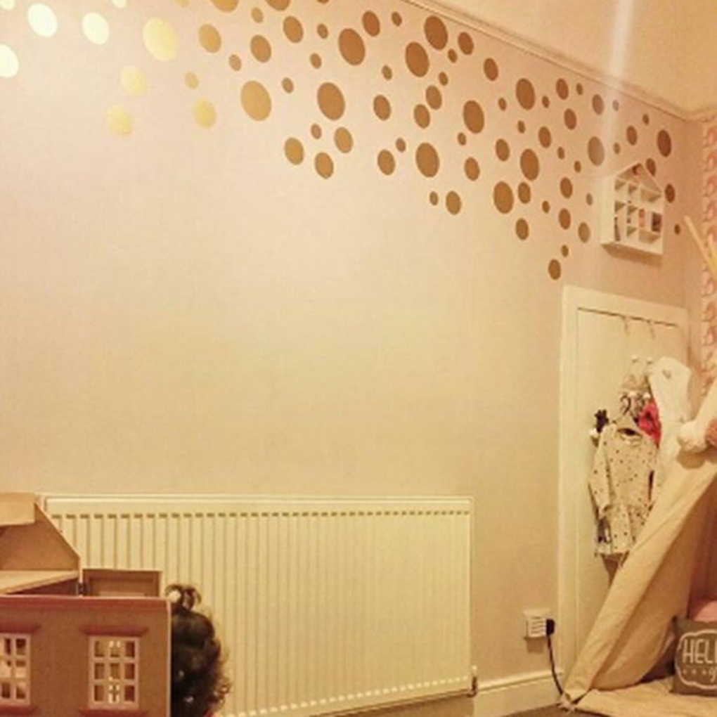 5pcs Removable Wall Decal Dots Matte Polka Dot Decor Round Circle ...